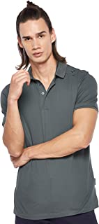 Armani Exchange Men's 3GZFGA Polo Shirt, Green (Urban Chic 1839), Medium