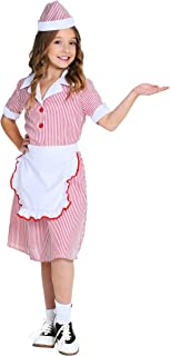 Girl's 50's Car Hop Costume