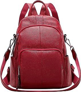 ALTOSY Echtleder Damen Rucksack Tasche Elegant Anti-Diebstahl Tagesrucksack Schultertasche