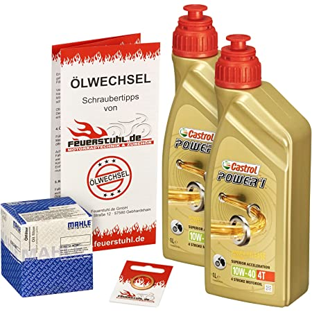 Castrol 10w 40 Öl Mahle Ölfilter Für Kawasaki Kfx 700 04 09 Ölwechselset Inkl Motoröl Filter Dichtring Auto