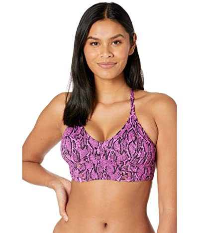 Jessica Simpson Snake Charmer Cropped Cami Top (Fuchsia) Women