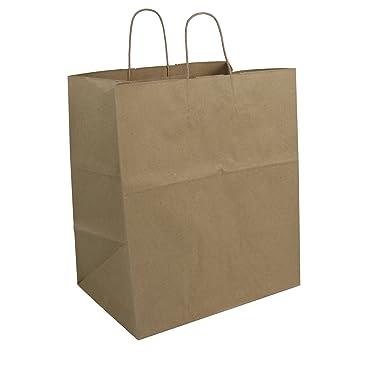 Duro ID# 87145 Super Royal Shopping Bag 70# 100% Recycled Natural Kraft 200pk 14 x 10 x 15.75