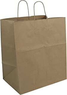 Duro ID# 87145 Super Royal Shopping Bag 70# 100% Recycled Natural Kraft 200pk 14 x 10 x 15.75
