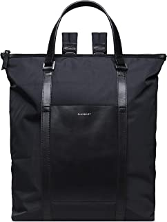 Sanqvist Marta Backpack Bag | Nylon/Leather - Black