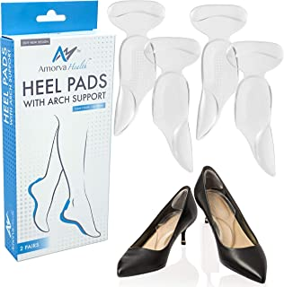 Arch Support Cushions for Men & Women, Shoe Insoles for Flat Feet, Arch Inserts for Plantar Fasciitis. Arch Pad and Heel Support for Overpronation to Relieve Foot Pain.