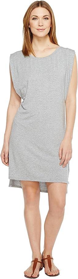 Mod-o-doc - Cotton Modal Spandex Jersey Effortless Pleated Tank Dress