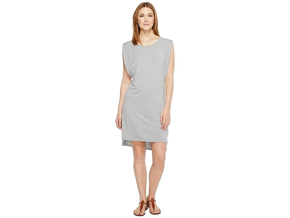 Mod-o-doc Cotton Modal Spandex Jersey Effortless Pleated Tank Dress (Smoke Heather) Women