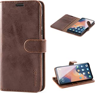 Mulbess Xiaomi Mi Mix 3 Protective Cover, Magnetic Closure RFID Blocking Luxury Flip Folio Leather Wallet Phone Case with Card Slots and Kickstand for Xiaomi Mi Mix 3, Coffee Brown