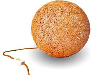 Lámpara de sobremesa artesanal naranja - Table Sphere
