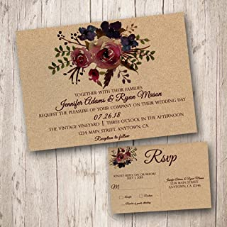 d3ba5349a78 Amazon.com: sunflower wedding - Invitations / Stationery: Handmade ...