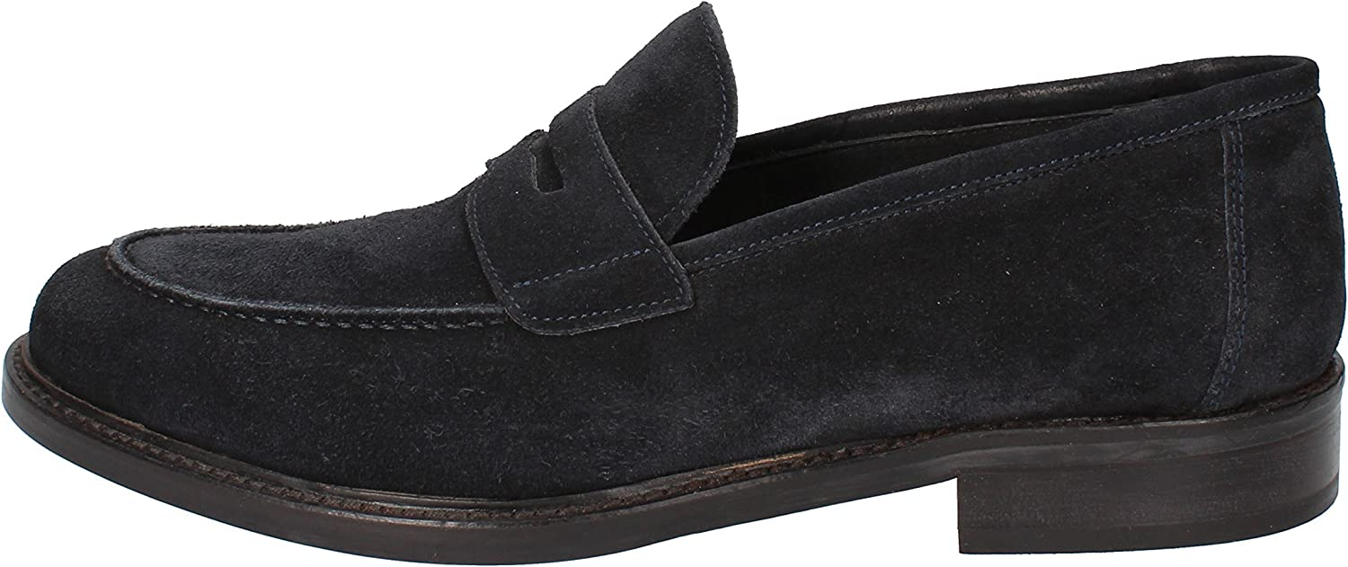 MARC EDELSON Loafers-shoes Mens Suede bluee