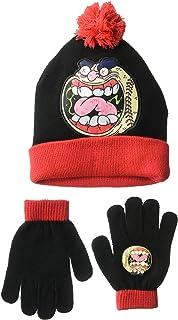 Madballs Boys` Big Screamin` Meemie Winter Beanie and Glove Set, Heather Grey, One Size