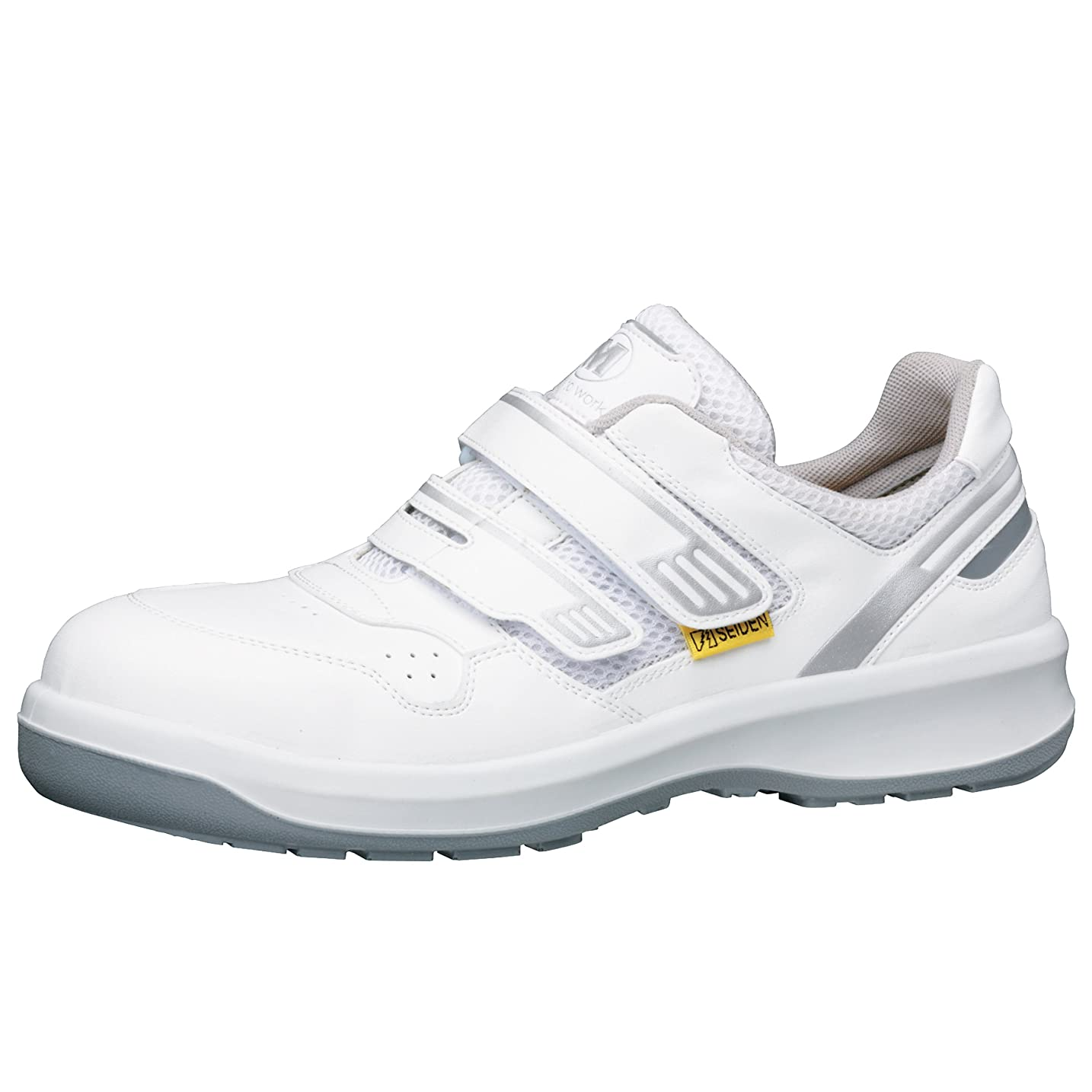 物足りない麦芽機関車静電安全靴 グリーン購入法適合 マジックタイプ スニーカー G3695 静電 メンズ