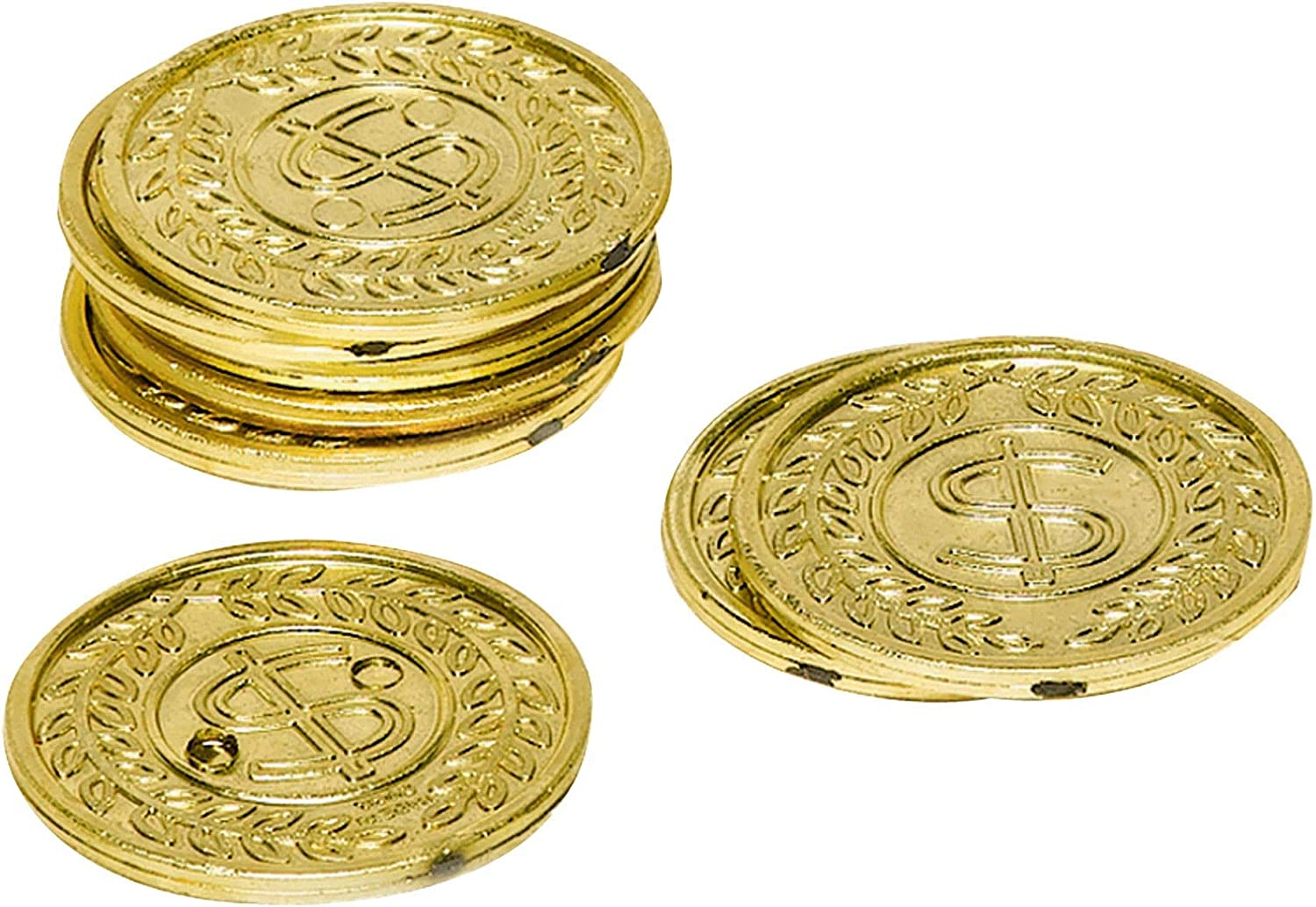 Plastic Casino Gold Coins 288 Ct Pacakaging May Vary