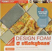 Criss Cross 18 by 12 by 2-Inch Foamology 2-Piece Design Foam Tile