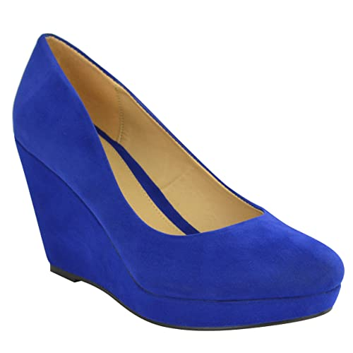 29f550f46d5eb Blue Wedges: Amazon.co.uk