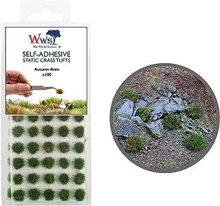 Krigsvärld scener självhäftande statisk gräs tuft x 100 – höst, 4 mm – modell järnväg krigslam landskap järnväg modellerin...