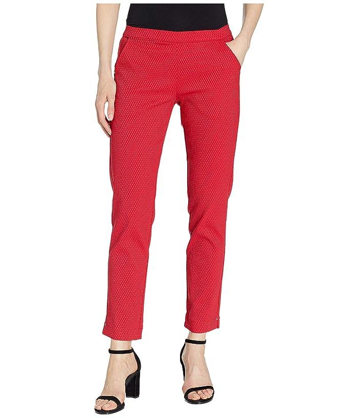 HUE Diamond Texture Loafer Skimmer Leggings (Red) Women