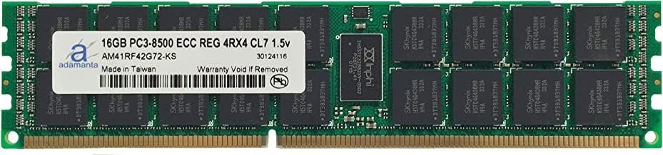 Adamanta 16GB (1x16GB) Server Memory Upgrade for IBM System x3650 M3 7945 DDR3 1066Mhz PC3-8500 ECC Registered 4Rx4 CL7 1.5v