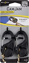 Nite Ize NCJ2-03-01 2 Pack with 8 ft Rope CamJam Cord Tightener, Large, Black