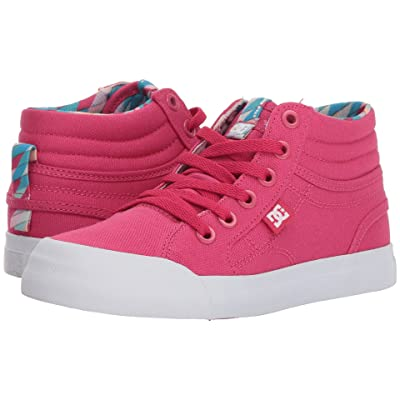 DC Kids Evan Hi SP (Little Kid/Big Kid) (Raspberry) Girl