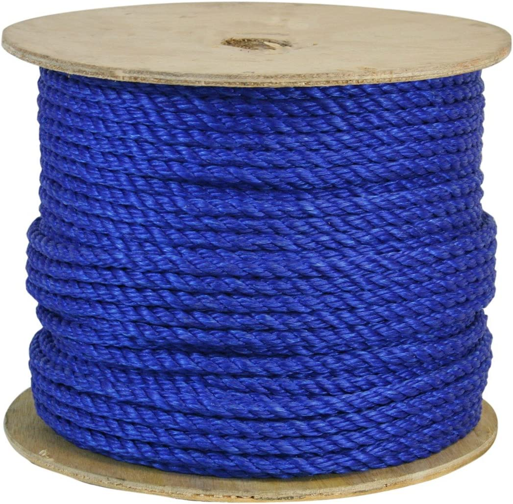 CWC 301215 1 2 Inch Twisted Rope Polypropylene 600 Same day shipping 2021 new Lon Feet Blue