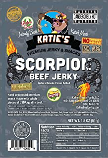 Scorpion Beef Jerky (Trinidad Moruga Scorpion Pepper) (3 Pack ) GLUTEN FREE, All Natural, Hottest in the World