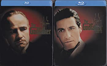 THE GODFATHER Part 1 and 2 BLU-RAY STEELBOOK Set (Both masterpiece movies together) Francis Ford Coppola