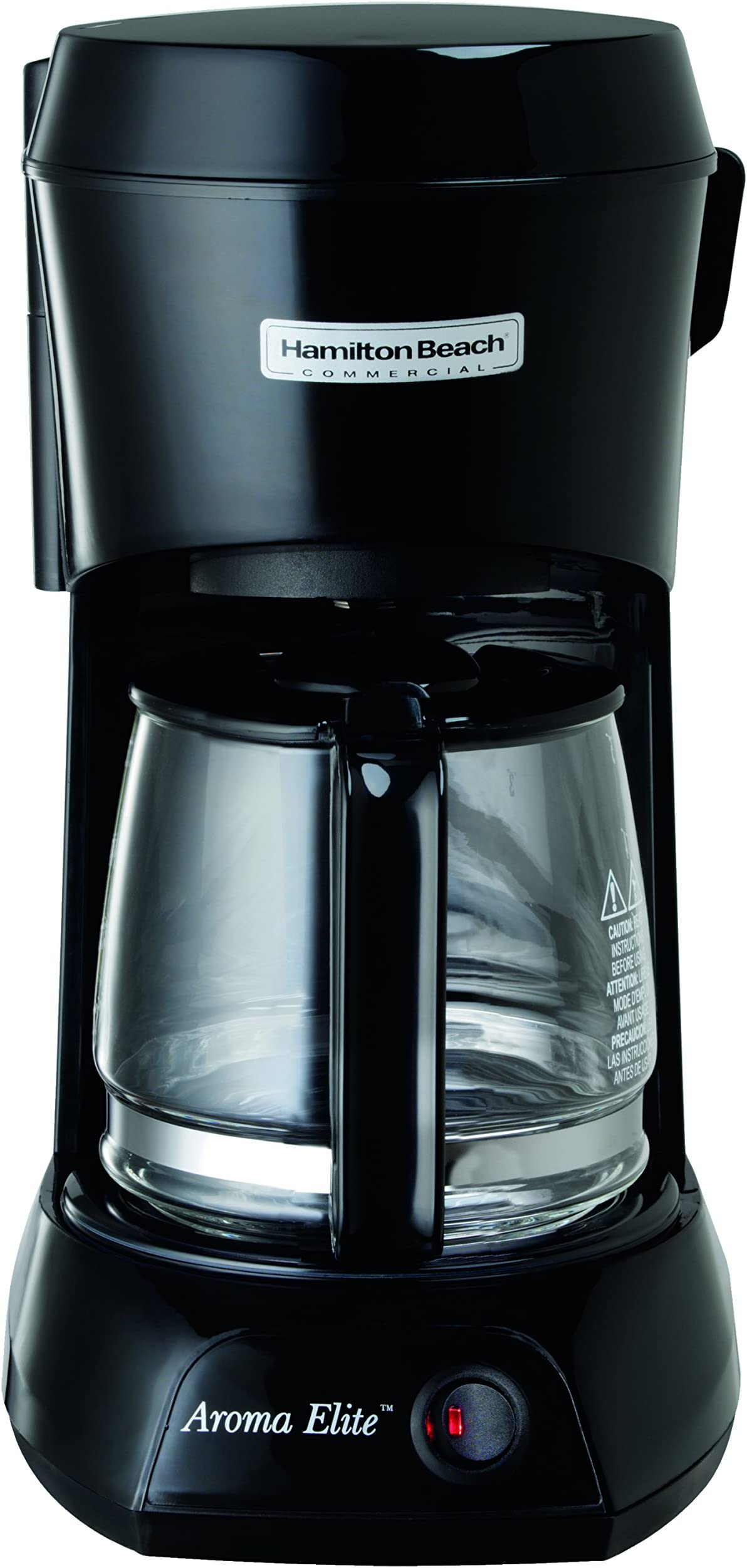 Hamilton Beach Commercial HDC500C Hotel & Hospitality 4 Cup Personal Coffeemaker, Black with Glass Carafe
