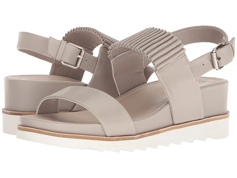 Tahari Giada Sandal (Dove Grey Leather/Elastic) Women