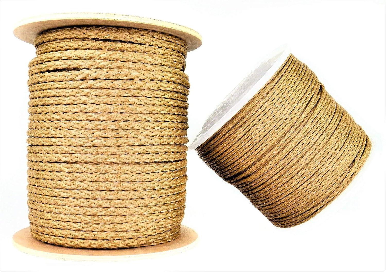Moisture and Element Resistant 1//2 X 100ft Coil - Tan Lightweight Multi-Purpose SGT KNOTS Hollow Braid Promanila