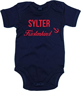 shirtdepartment Baby Body Sylter Küstenkind Bodysuit Strampler Sylt Küste Meer See