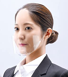 RP東プラ 簡易マウスシールド 涼くん 10枚入り 日本製 曇り防止加工 大サイズ 耳ゴムが目立たない 組立タイプ TFS-R01