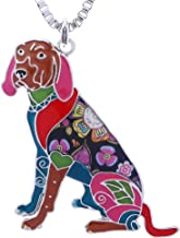 Luckeyui Coonhound Gifts Jewelry for Dog Lovers Novelty Animal Pets Pendants Statement Necklaces