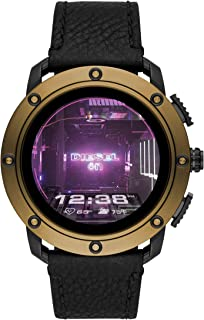 Diesel Axial Men's Multicolor Dial Leather Digital Smartwatch - DZT2016
