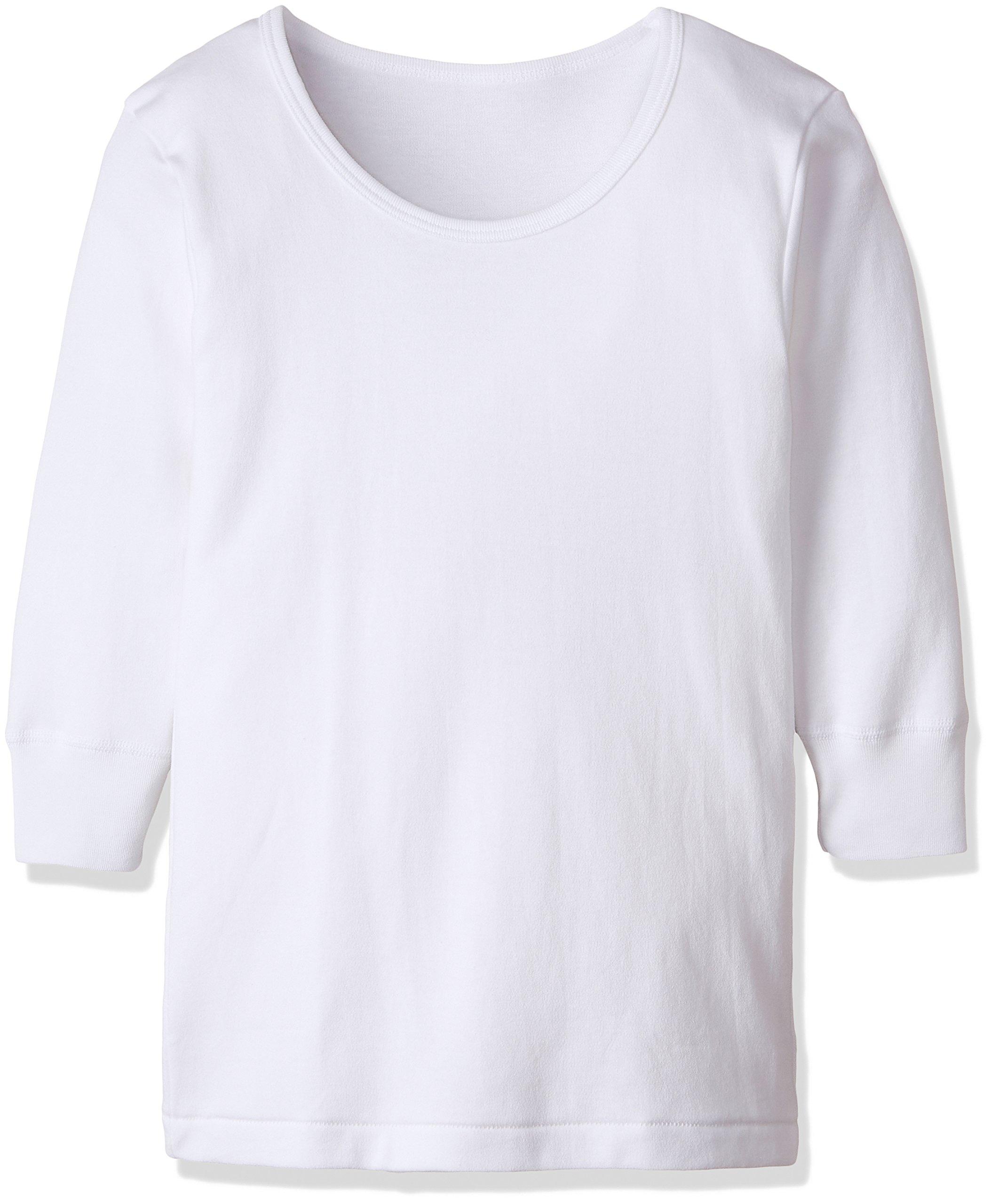 (郡は)グンゼ子供男の子の暖かい厚さ(室内乾燥、抗菌、消臭)綿100%長袖ラウンドネック2ピースBF 23 B 03白160