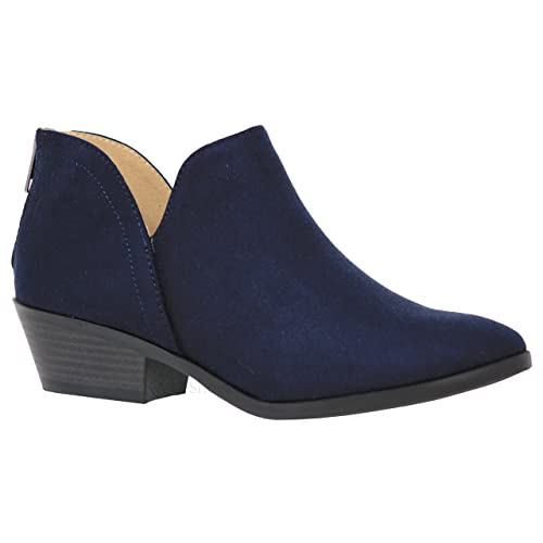 1ee67677e2dd2 Navy Ankle Boot: Amazon.com
