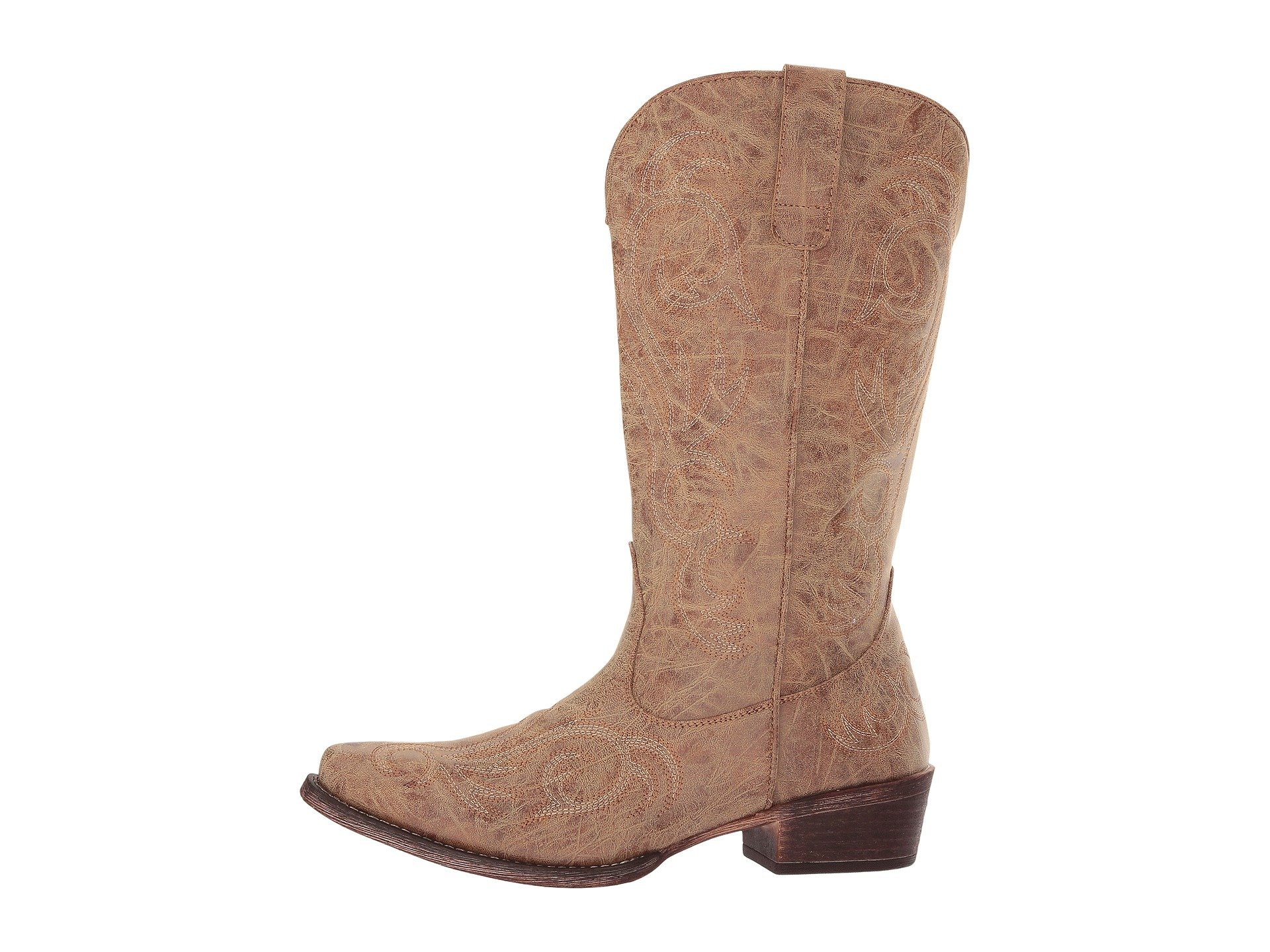 Leather Roper Roper Riley Brown Riley Faux 8TXxPw7q