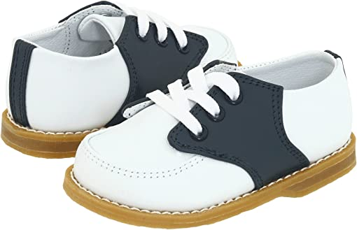 White And Navy Saddle Leather
