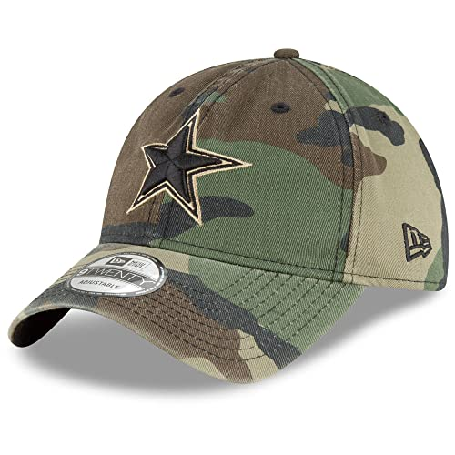 e2a16f0d732 Dallas Cowboys New Era Core Classic Woodland Camo 9Twenty Cap