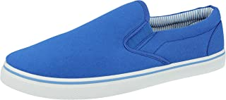 Mens Canvas Slip On Casual Plimsoll Espadrille Pumps Loafers Deck Trainers Shoes Size 7-12