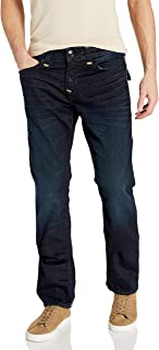 True Religion Men's Ricky Super T Straight Leg Fit Jean with Back Flap Pockets