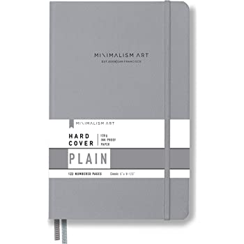 Minimalism Art Hard Cover Pocket B6 4.5 x 6.5 inches Ribbon ...