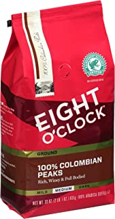 Eight O'Clock Ground Coffee, 100% Colombian Peaks, 33 Ounce (Pack of 1)
