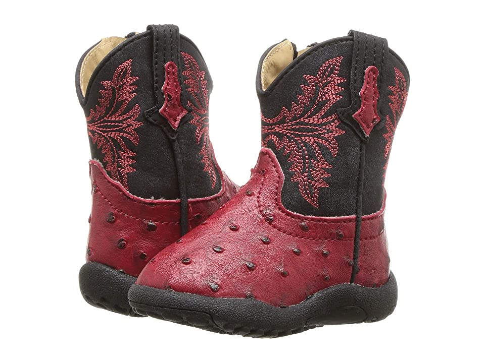 Roper Kids Cowboy Cool (Infant/Toddler) (Red Faux Ostrich Vamp) Cowboy Boots