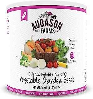 Augason Farms 5-14000 دانه های باغ سبزیجات 13 تنوع 1 پوند شماره 10 می تواند