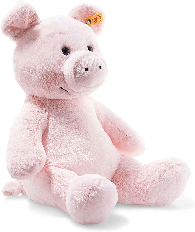"100% quality warranty Max 70% OFF Steiff Oggie Pig 14"" Soft Cuddly Stuffed - Animal Friends P"