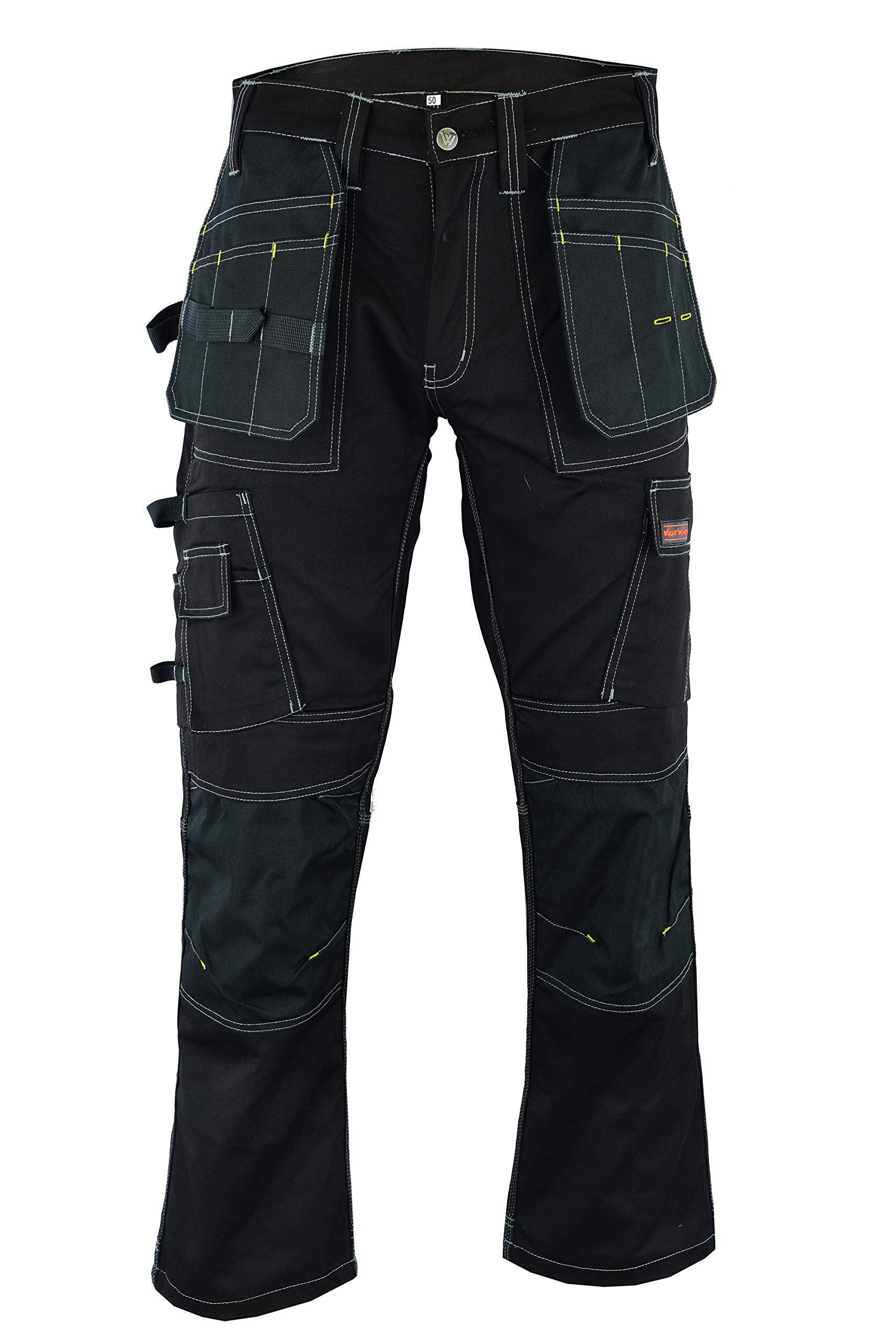 Wright Wears Men Work Cargo Pro Shorts Black /& Grey Heavy Duty Multi Pockets Like Dewalt