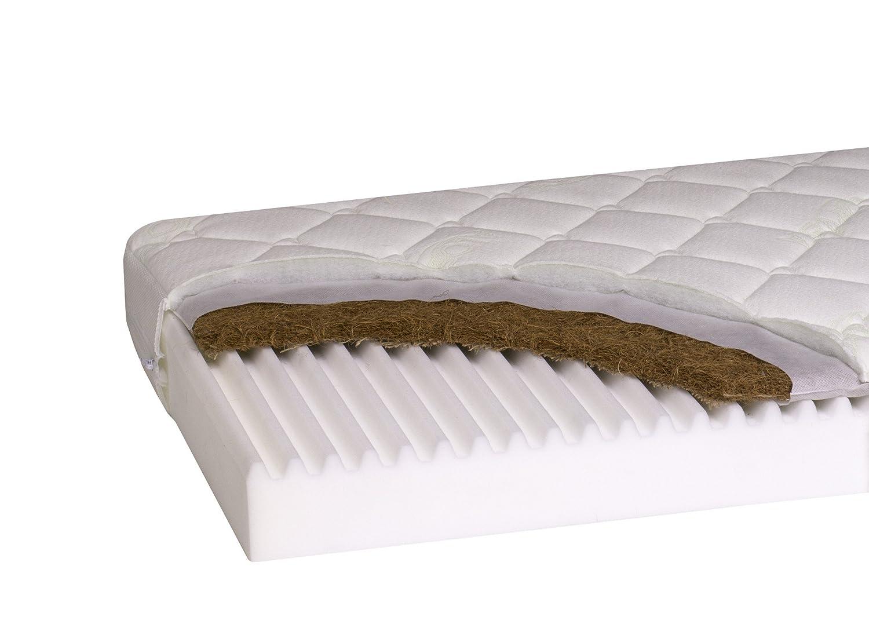 Latexfrei Schaum Kindermatratze Rei/ßverschluss Kinderbett Premium Nature Coco Kokos Matte 140 x 70 x 10 cm Zweiseitige Kinderbettmatratze Babymatratze