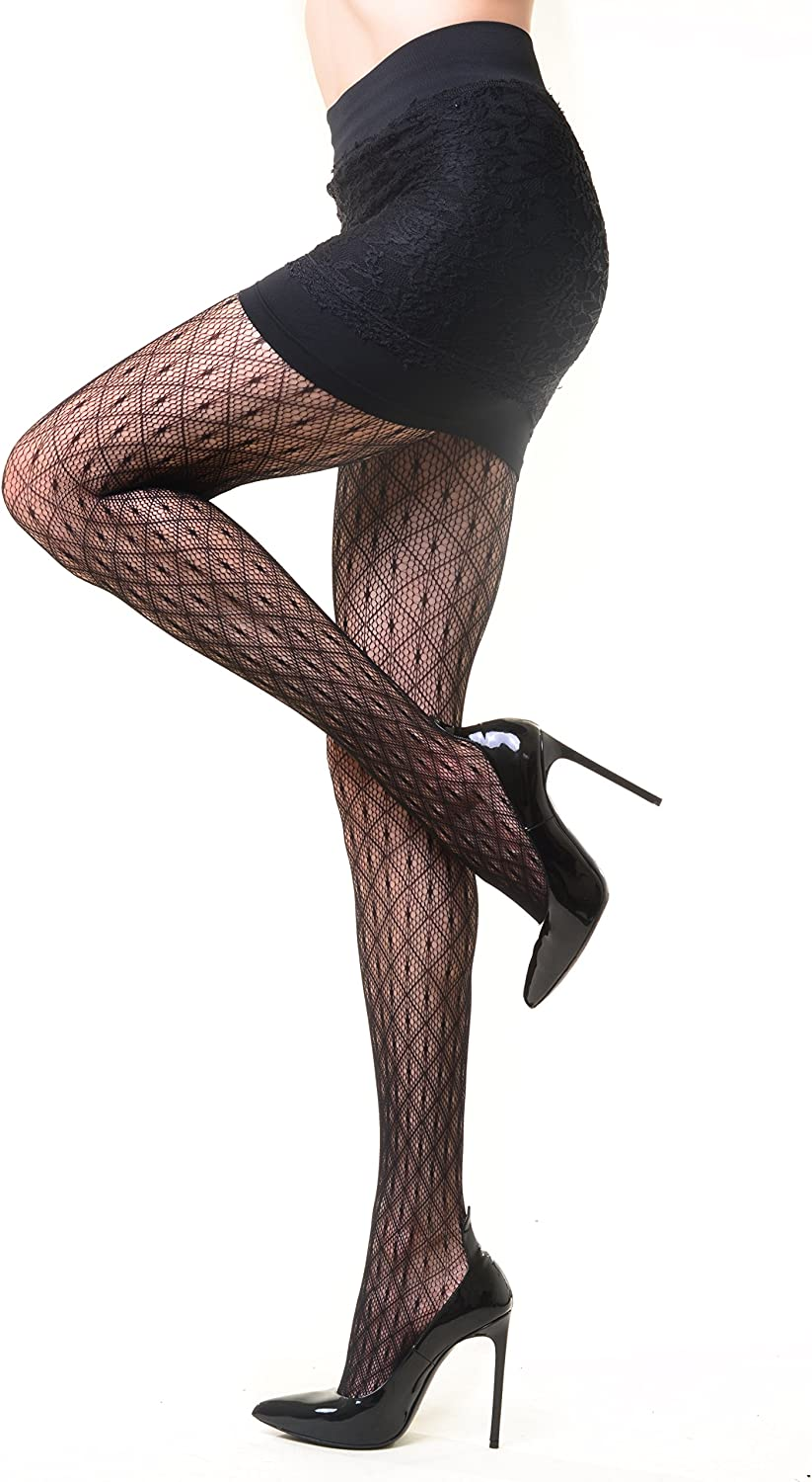 Fashion Mic Women's Casual to Dressy Fishnet Pantyhose - Various Styles (one size, web)